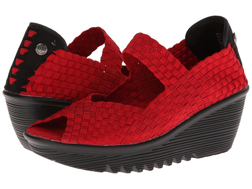 zapatos tiras rojas flexibles BernieMV