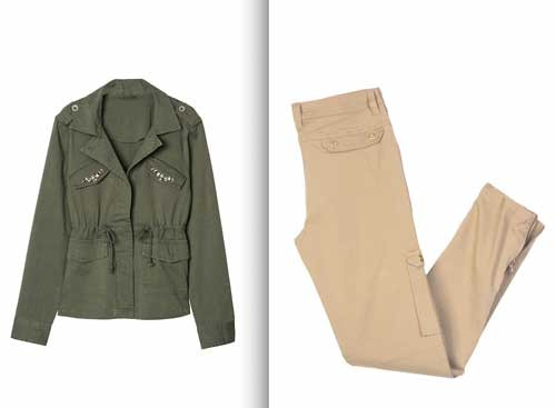 Usar prendas de manga larga (look safari de Venca)