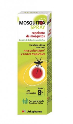 Un repelente anti mosquitos, como Mosquitox Spray