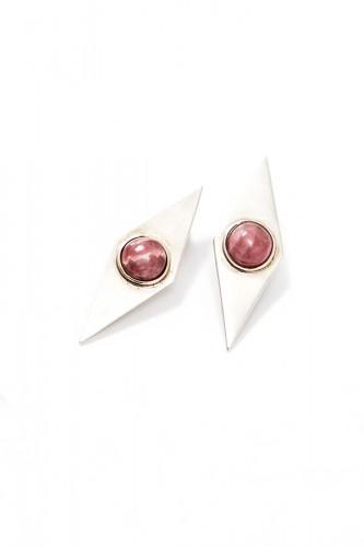 eme-jewels-pendientes-rombos-de-plata-y-rodocrositas