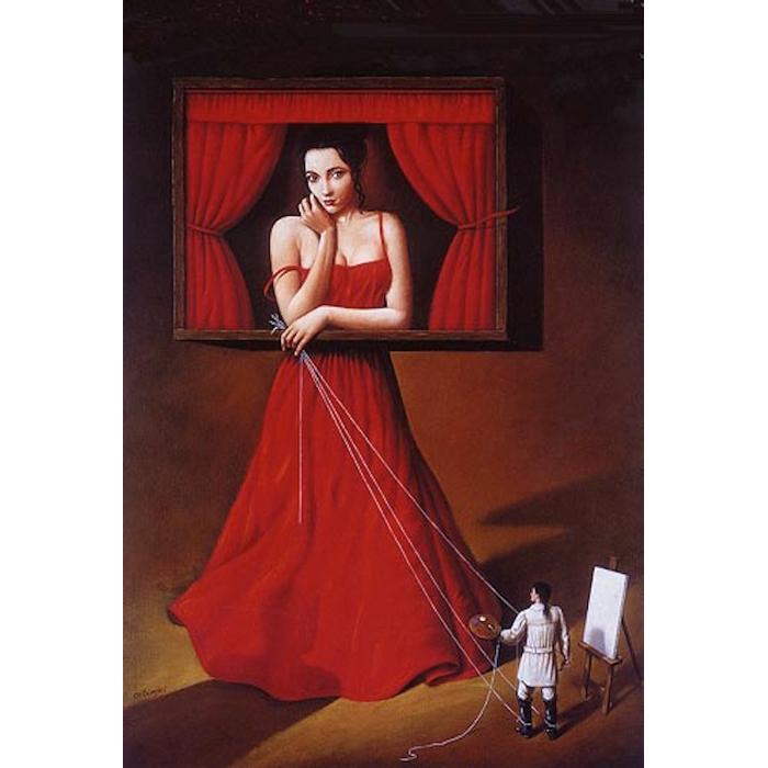 Un cuadro de Rafal Olbinski