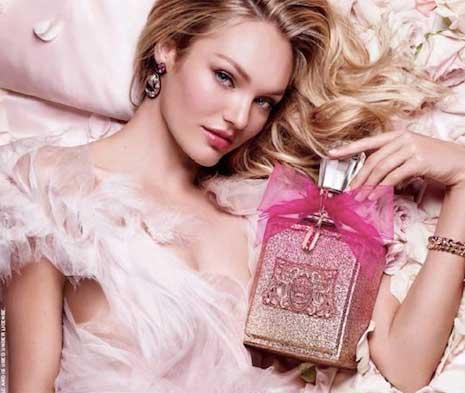 La Juicy Couture Rosé y Candice Swanepoel