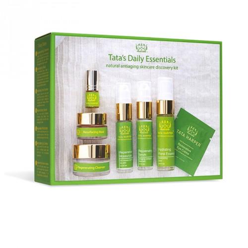 El kit Daily Essentials de Tata Harper está especialmente indicado para iniciarse en la cosmetica natural.