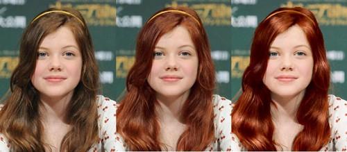 chica con pelo en tres colores
