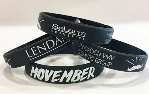 Salerm Cosmetics ha creado unas pulseras Movember de edición limitada, cuyo importe íntegro se dona a la Fundación.