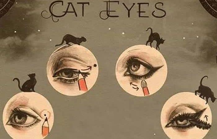 maquillaje ojos de gata