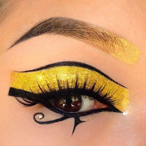 maquillaje de ojos ojo de horus