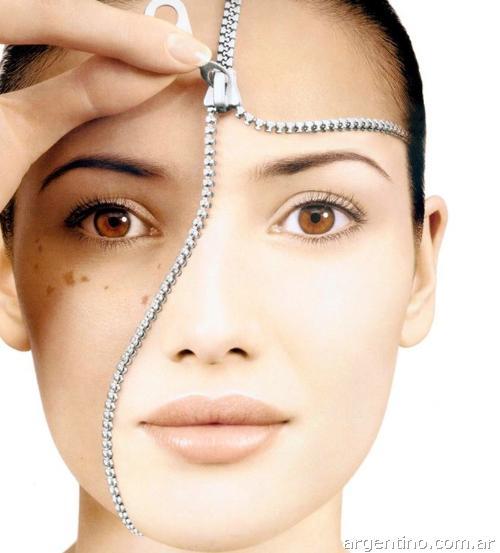 mujer, peeling facial