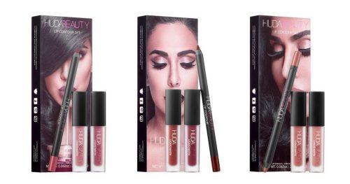 Aprovechando la coyuntura, Huda Beauty acaba de lanzar unos Lip Contour Sets con tonos coordinados para crear los labios ombré perfectos.