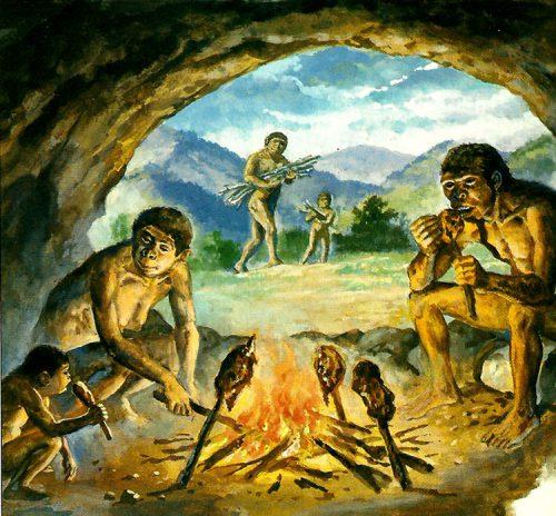 fuego hombre primitivo