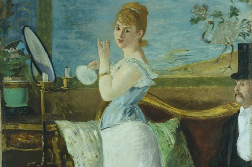 "21. Édouard Manet (1832-1883) ""Nana"", 1877 Huile sur toile, 150 x 116 cm Hambourg, Hamburger Kunsthalle CREDIT : Elke Walford/BPK, Berlin/RMN/Musée d'Orsay"