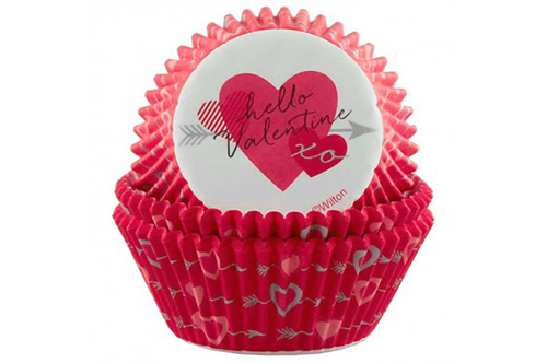 Moldes de papel para magdalenas San Valentín