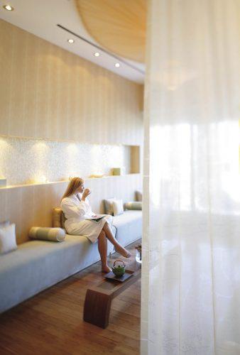 Zona relax del hotel Mandarin Oriental en Nueva York