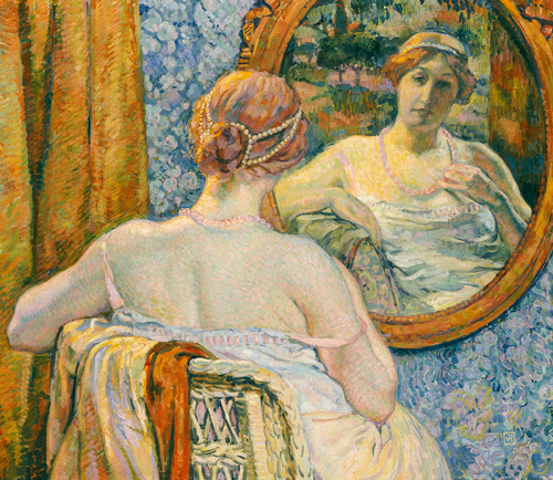 Woman In A Mirror Theo Van Rysselberghe
