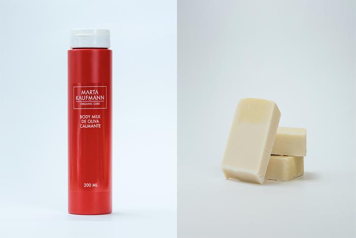 Aceite y jabón para tratar el eczema de Marta Kaufmann
