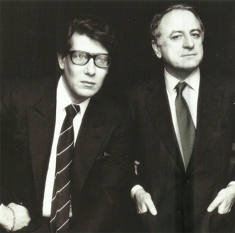Yves Saint Laurent y Pierre Bergé