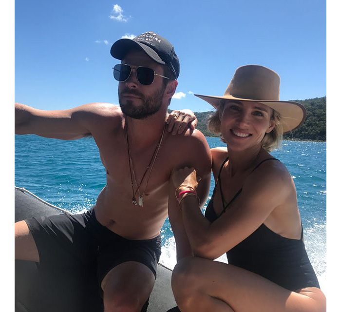 Elsa Pataky Chris Hemsworth Barco