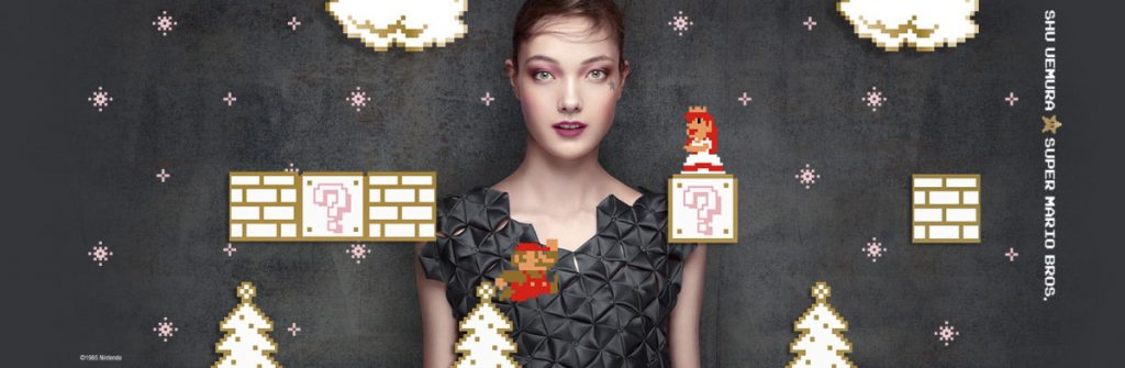 Shu Uemura Super Mario Bros Holiday 2017 Collection Banner