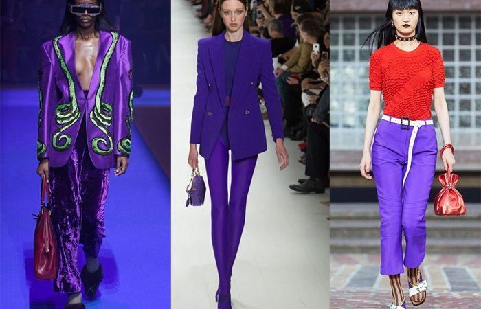 Ultra Violet Pantone Moda Pasarela Primavera Verano 2018