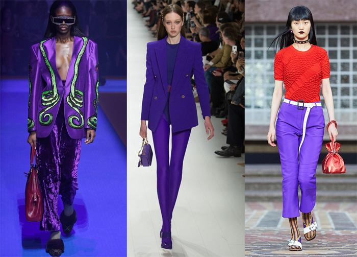 b6bf574c5 Ultra Violet Pantone Moda Pasarela Primavera Verano 2018