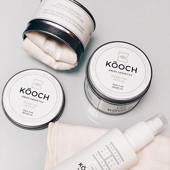 Kooch Green Cosmetics Muselinas Desmaquillantes
