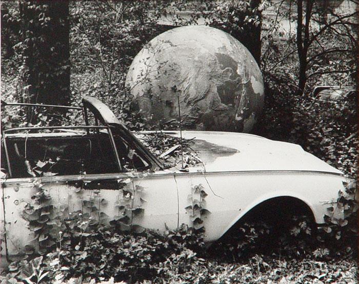 David Wojnarowicz Abandoned Car With Globe