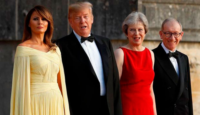 Theresa May Melania Trump Floris