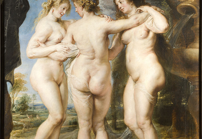 840px The Three Graces, By Peter Paul Rubens, From Prado In Google Earth