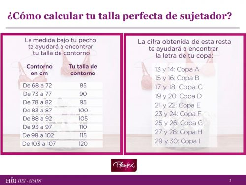 Cómo Calcular Tu Talla Perfecta De Sujetador Playtex