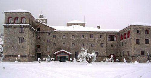 pasear en la nieve