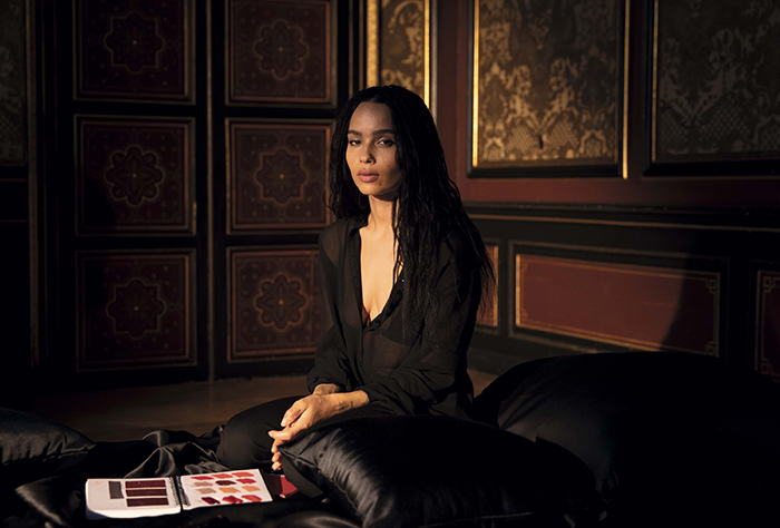 Zoe Kravitz Ysl Rouge Pur Couture