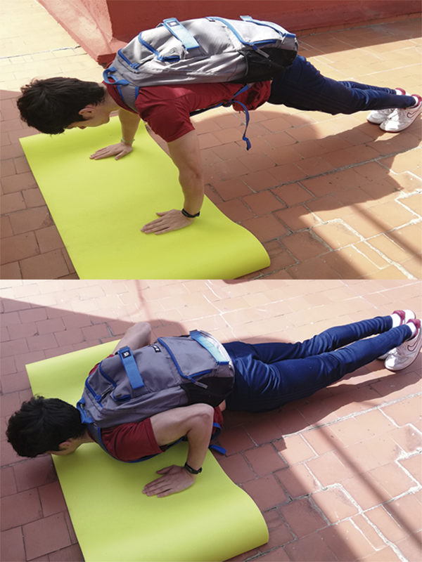 Ejercicio con peso musculo