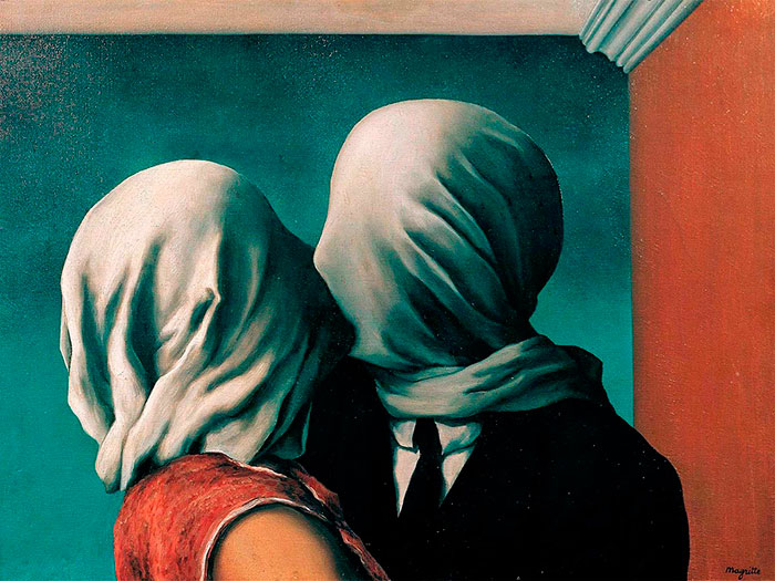 Rene Magritte Los Amantes