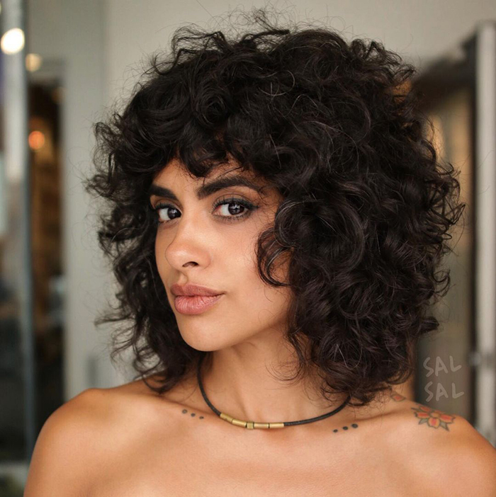 Curly Bangs Flequillo Tendencia