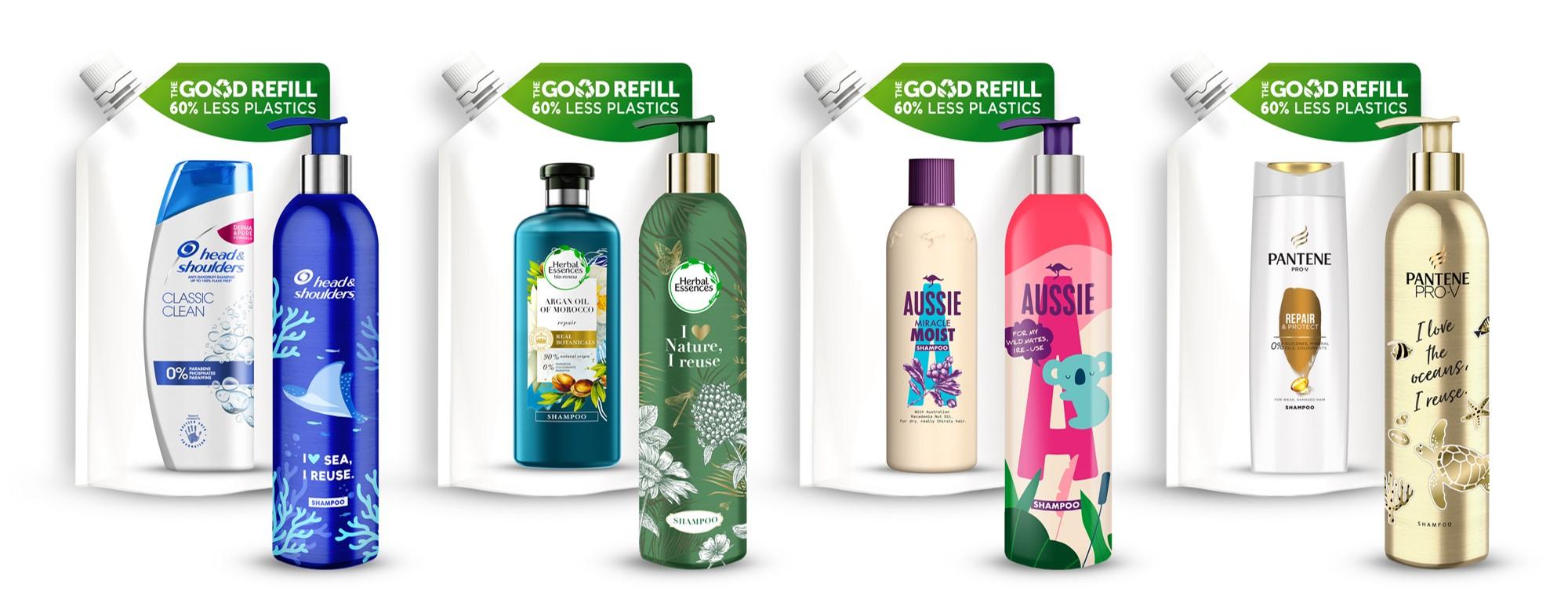 P&G Beauty Botellas De Aluminio& Recambios