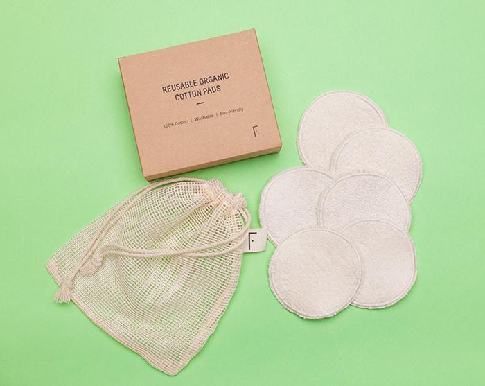 Freshly Reusable Organic Cotton Pads Discos Algodon Reutilizables