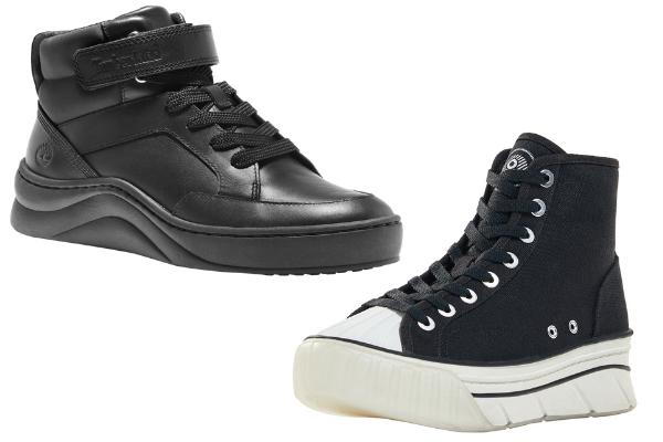 Sneakers De Bota En Negro