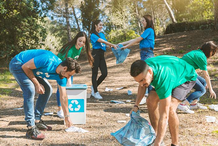 Volunteers Cleaning Up Nice Woods