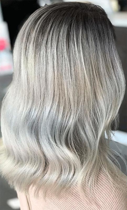llegar al pelo blanco sin transición